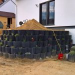 Aufbau einer Terrasse