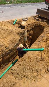 Anschluß der Abwasserleitungen