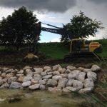 Befestigung einer Hangböschung für Gewässer